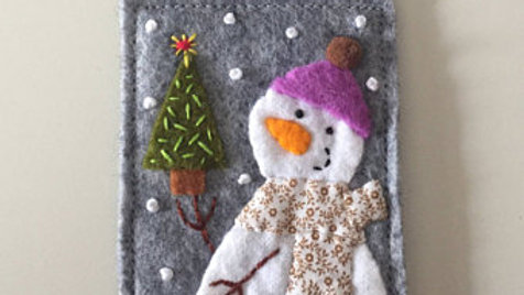 Snowman Lil' Tree Christmas Ornament