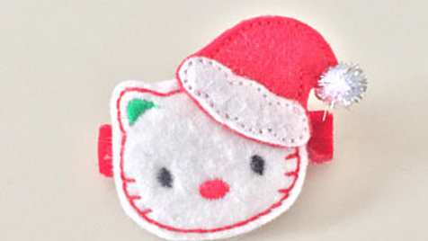 Hello Kitty Christmas Hair Clip