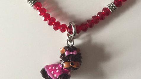 Yorkie Charm Beaded Bracelet