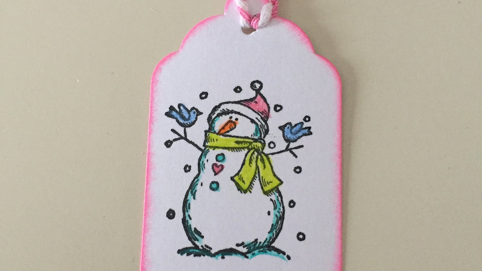 Snowman Christmas Gift Tags - Set of 5