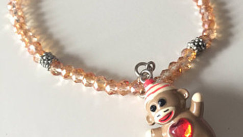 Beaded Sock Monkey Bracelet