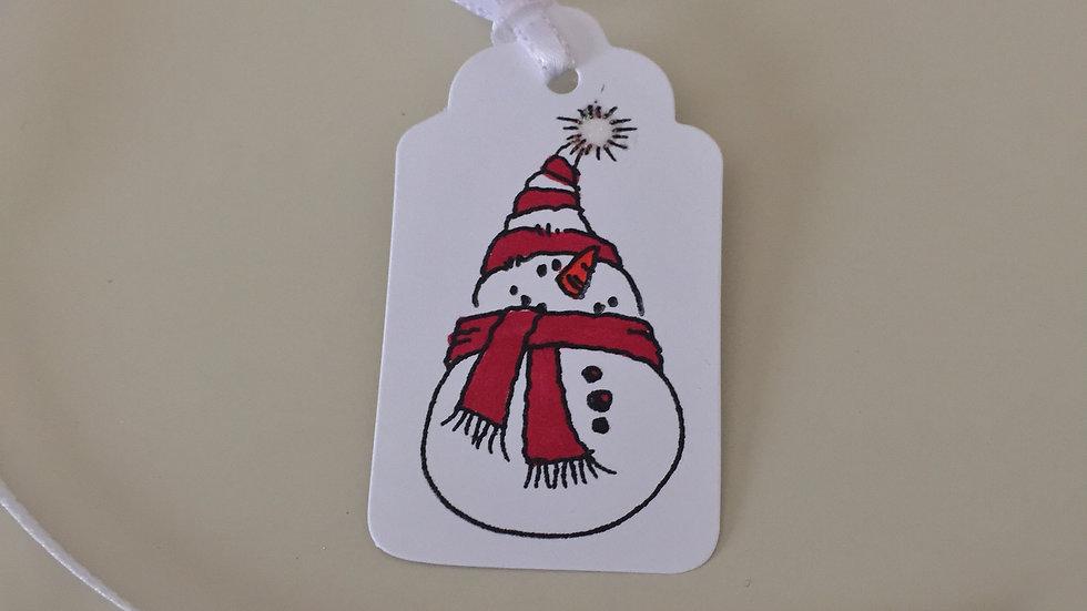 Christmas Snowman Gift Tags - Set of 5