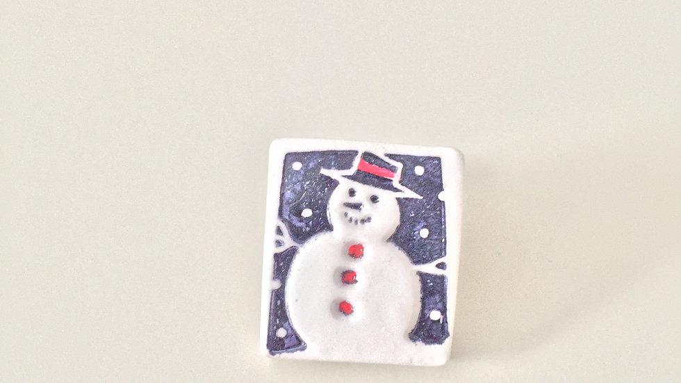 Cheery Snowman Christmas Pin