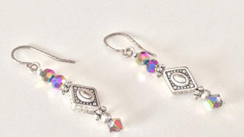 Iridescent Beaded Earrings