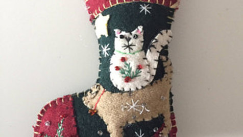 Pet Stocking Christmas Ornament