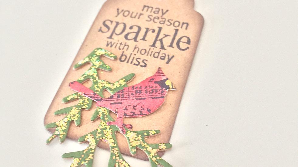 Christmas Cardinal Gift Tags - Set of 5