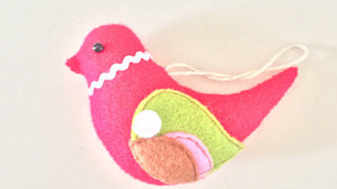 Red Birdie Christmas Ornament