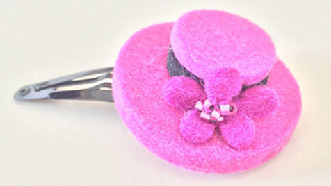 Pink Top Hat Hair Clip