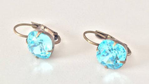 Electric Blue Stone Earrings