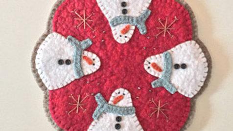 Red Snowman Penny Mat