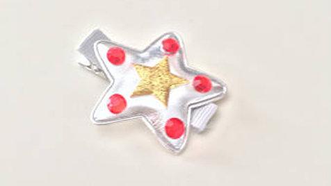 Silver Star Hair Clip