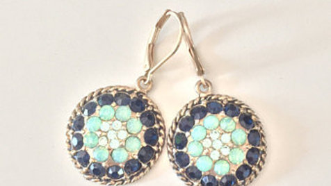 Blue and Turquoise Stone Earrings