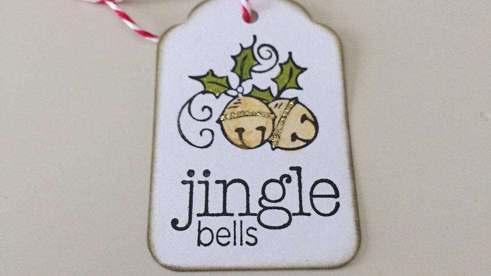Jingle Bells Christmas Gift Tags - Set of 5