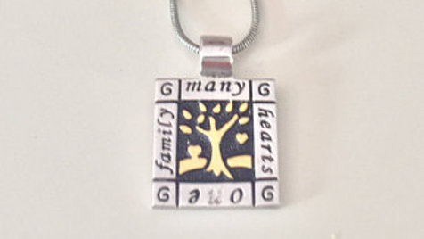 Silver Family Pendent Necklace