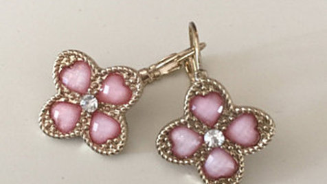 Soft Pink and Silver Earrings