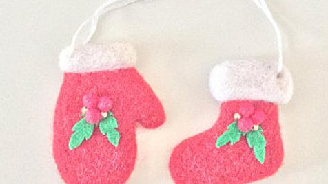 Mistletoe Mitten and Stocking Christmas Ornament
