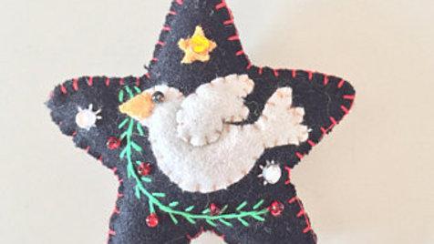 Dove Star Christmas Ornament