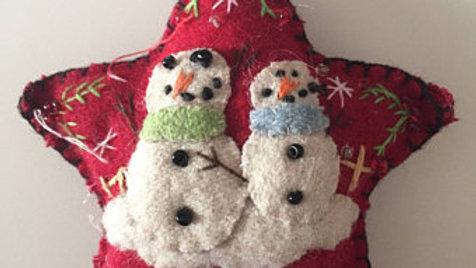 Star Snowmen Christmas Ornament