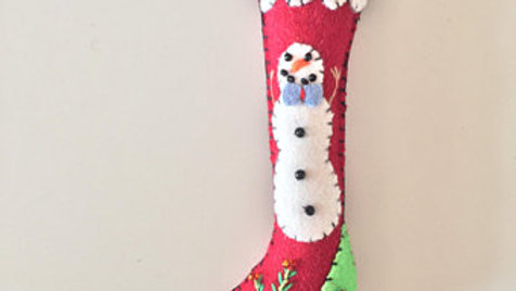 Red Stocking Christmas Ornament