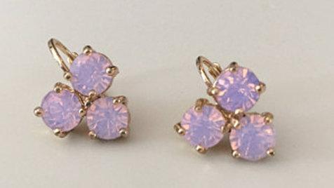 Pink Studded Earrings