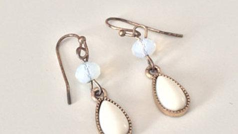 Light Bead Drop Earrings