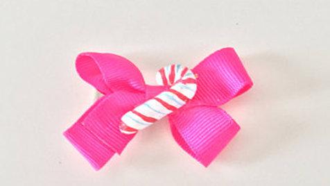 Candy Cane Christmas Hair Clip
