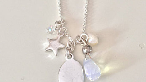Silver Moonlight Charm Necklace
