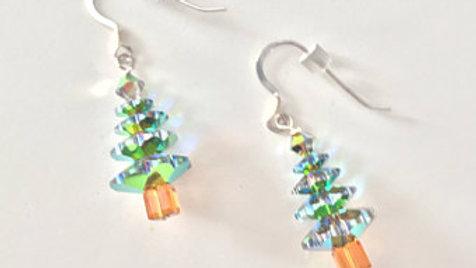 Translucent Christmas Tree Earrings