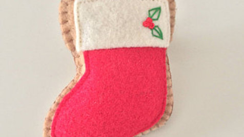 Red Christmas Stocking Ornament