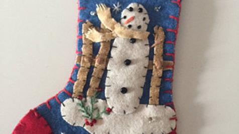 Snowman Stocking Christmas Ornament