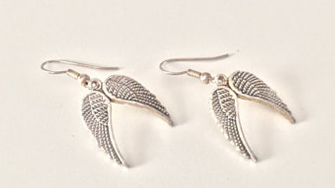 Silver Angel Wing Earringsinter Polar Bear Bow Hair Clip