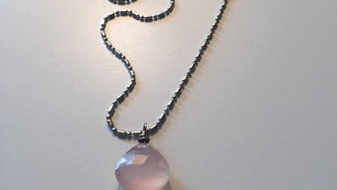 Pale Pink Stone Necklace