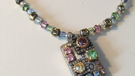 Multi Color Bead and Stone Necklace