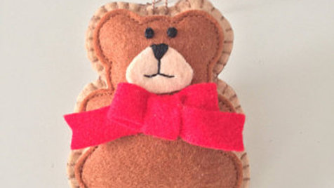 Bowtie Gingerbread Man Christmas Ornament