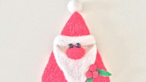 Mistletoe Santa Claus Ornament