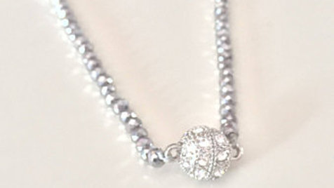 Silver Studded Ball Necklace