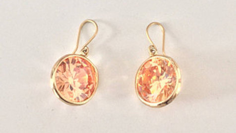 Golden Stone Earrings