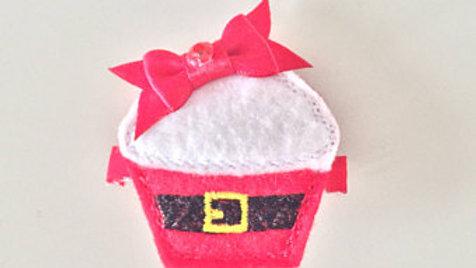 Christmas Cupcake Hair Clip