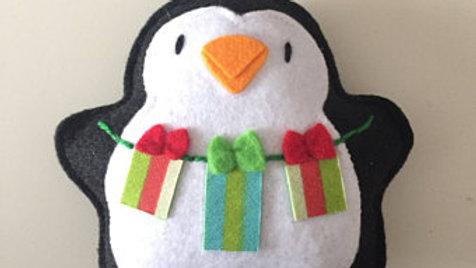 Penguin Presents Christmas Ornament