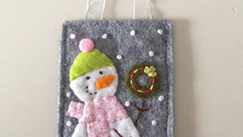 Snowman Lil' Wreath Christmas Ornament