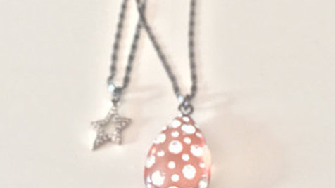 Star and Studded Stone Layered Necklace