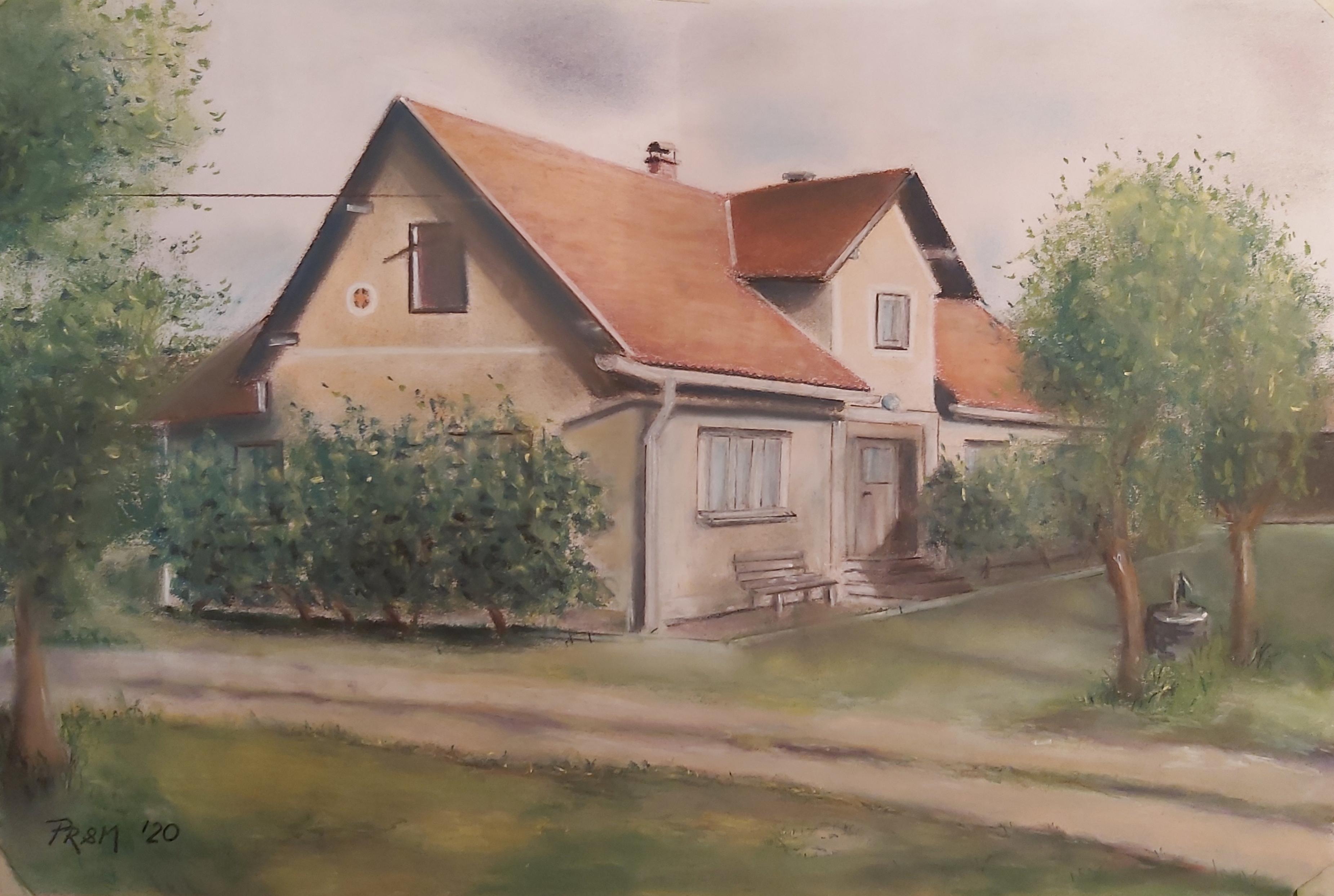 Domačija_Trnovlje-pastel