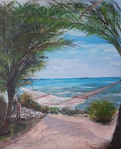 Samotni otok-akril