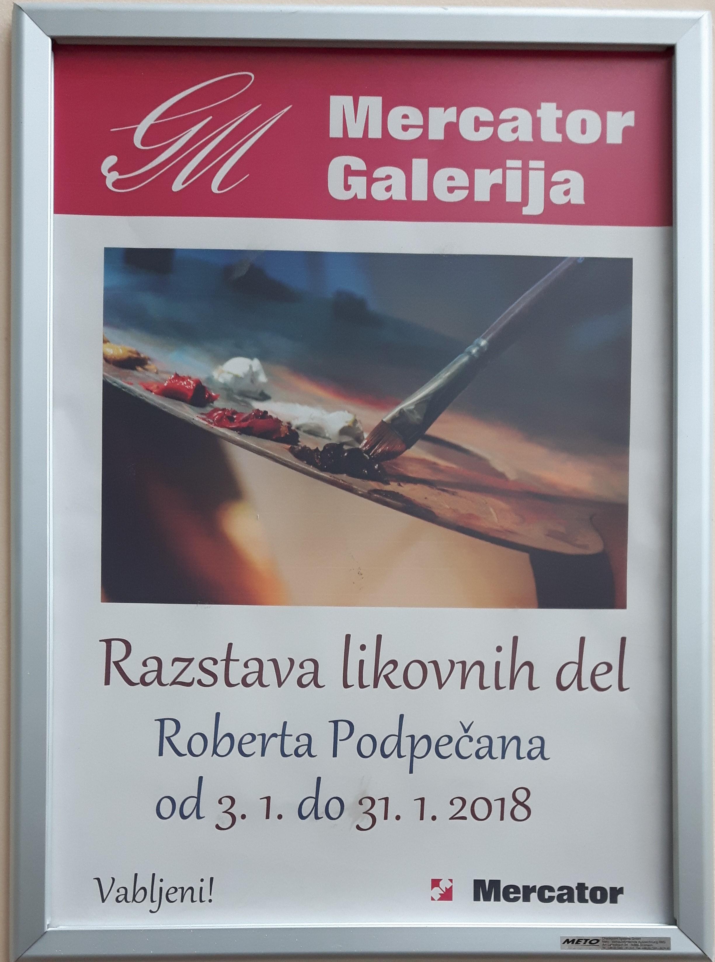 Samostojna razstava v Galeriji Mercator 2018 (1)
