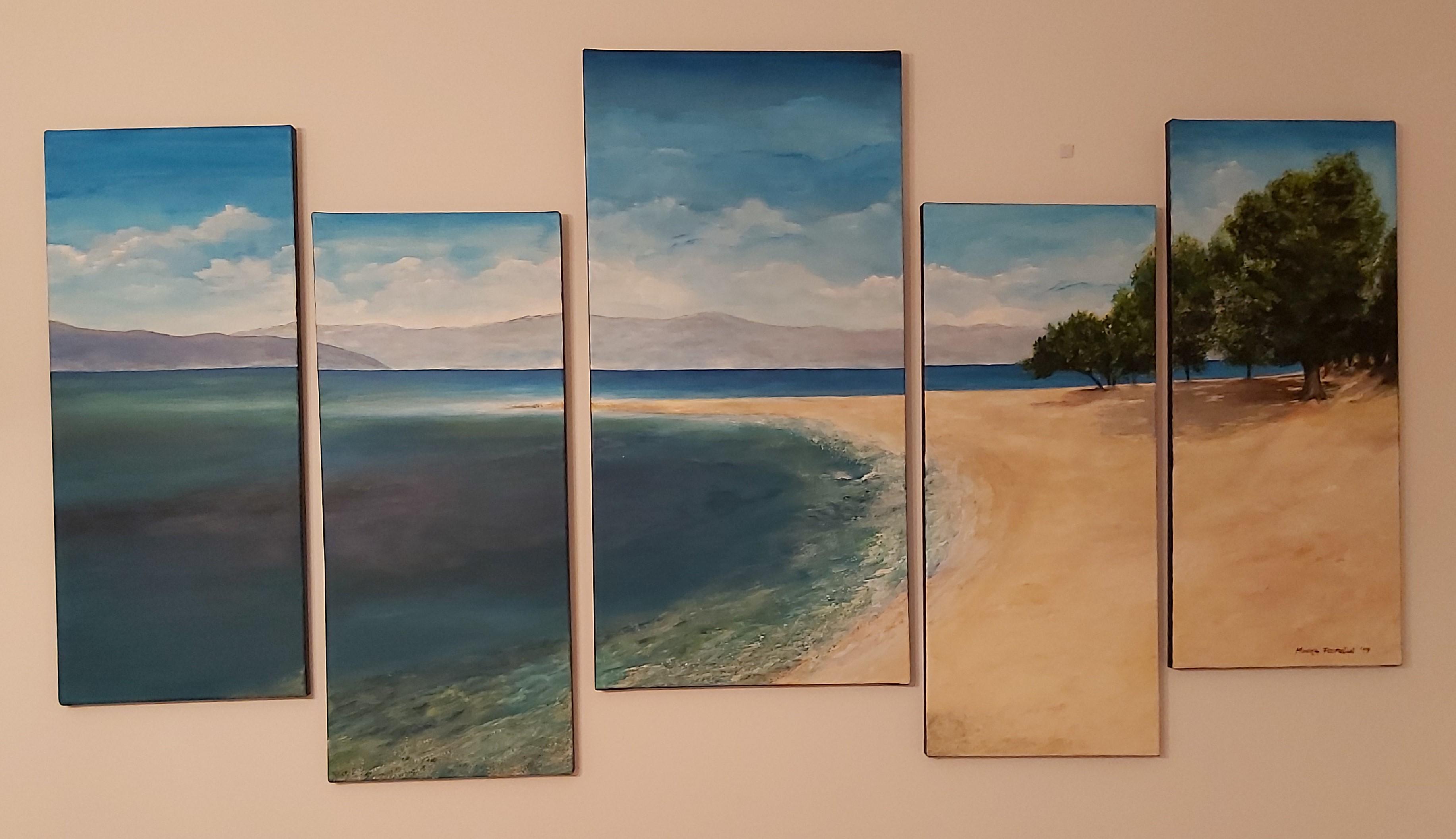 Jadranska obala-akril