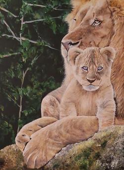 Levji kralj - akril