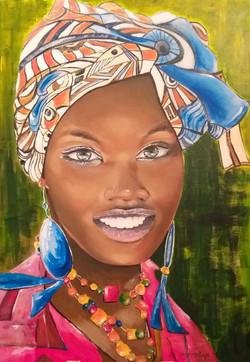 Afričanka_II.-akril