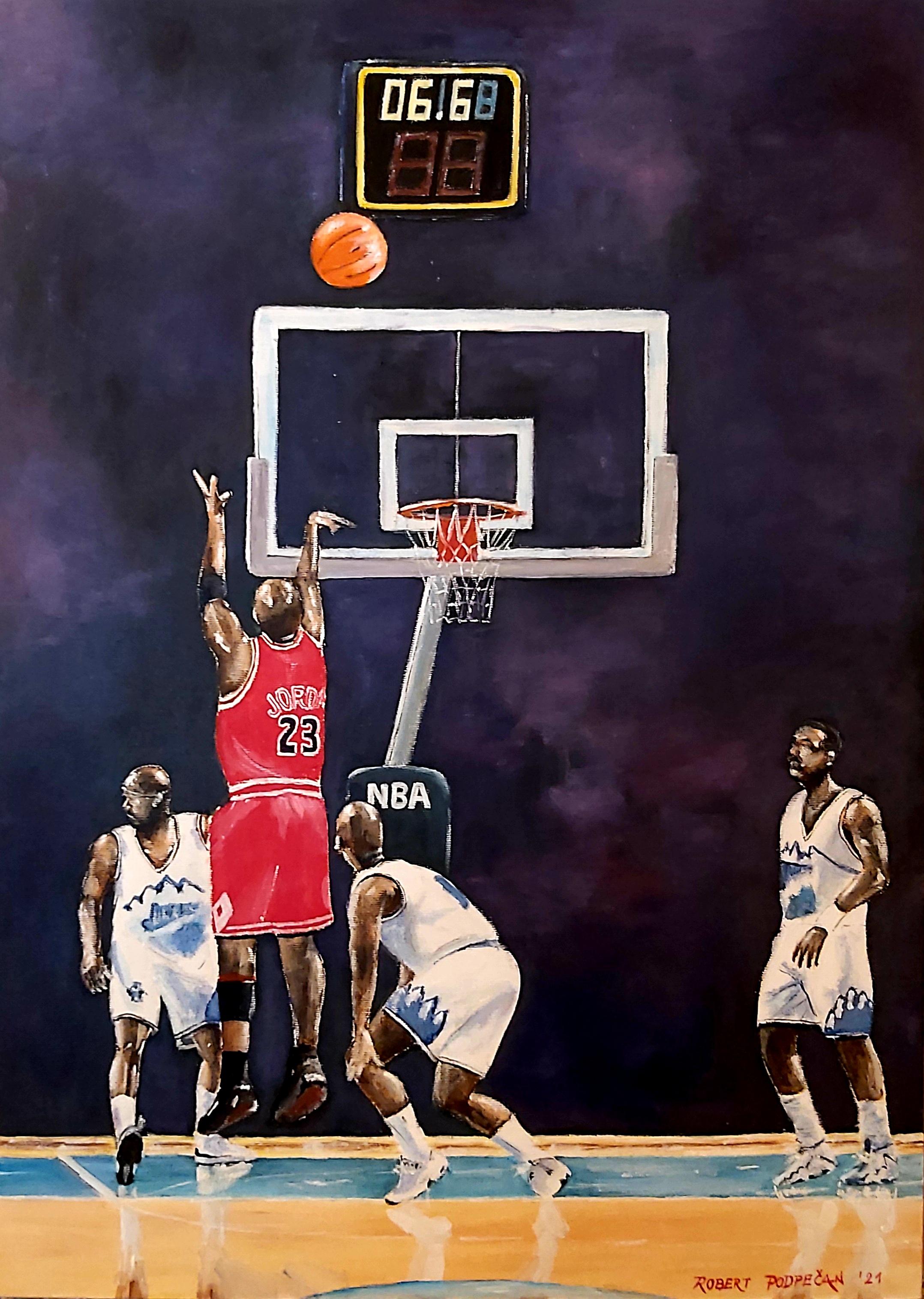Zadnji met Michaela Jordana-akril
