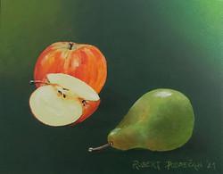 Jabolko in hruška-akril