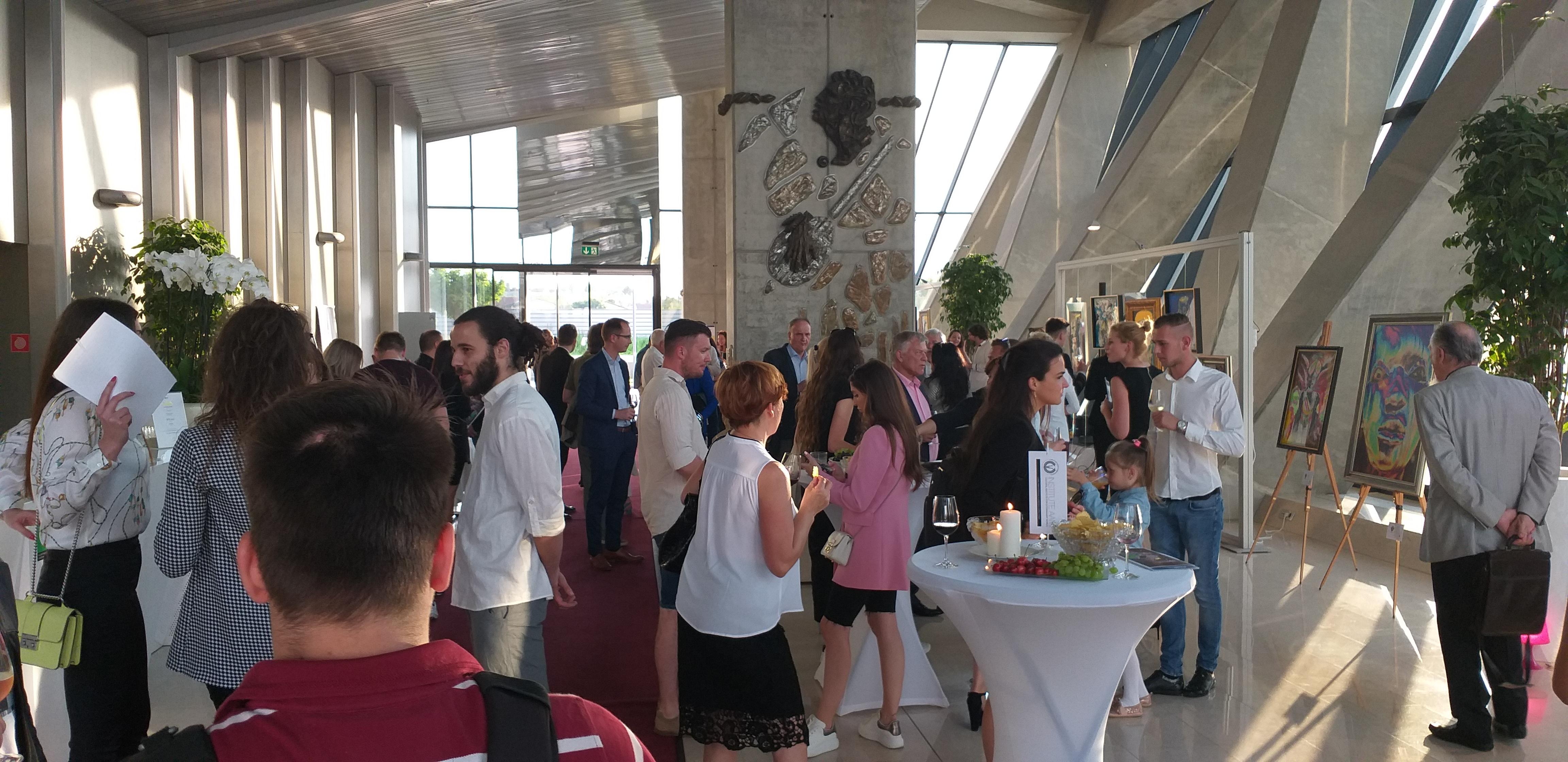Odprtje razstave Mihe Murna v Ljubljani